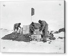 Terra Nova Antarctic Depot Laying Acrylic Print by Scott Polar Research Institute