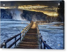 Terrace Boardwalk Acrylic Print by Mark Kiver