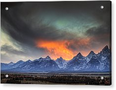 Teton Explosion Acrylic Print by Mark Kiver