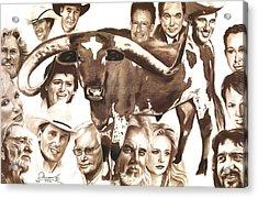 Texas Born Acrylic Print by Bill Olivas