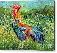 Texas Glory Acrylic Print by Hailey E Herrera