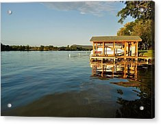 Texas Hill Country Lake Acrylic Print by Kristina Deane