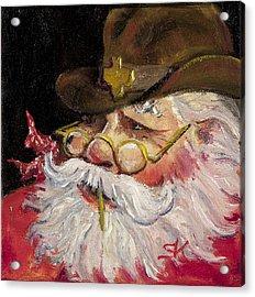 Texas Santa Acrylic Print by Sheila Kinsey