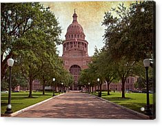 Texas State Capitol IIi Acrylic Print by Joan Carroll