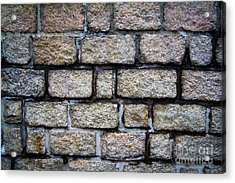 Texture Of Old Wall Acrylic Print by Niphon Chanthana