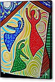 The Barn Dancers Acrylic Print by Sarah Loft