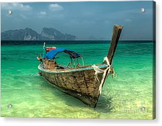 Thai Boat  Acrylic Print by Adrian Evans