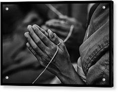 Thailand Buddhist Prayers 6 Acrylic Print by David Longstreath