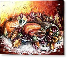Thanksgiving Dinner Acrylic Print by Shana Rowe Jackson