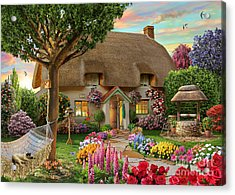 Thatched Cottage Acrylic Print by Adrian Chesterman
