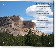 The 10 Indian Commandments Acrylic Print by Thomas Woolworth