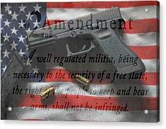 The 2nd Amendment Acrylic Print by Dan Sproul
