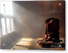 The Abandoned Boots  Acrylic Print by Olivier Le Queinec