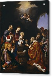 The Adoration Of The Magi Acrylic Print by Carlo Dolci