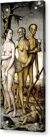 The Ages Of Man And Death Acrylic Print by Hans Baldung
