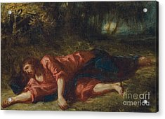 The Agony In The Garden Acrylic Print by Ferdinand Victor Eugene Delacroix