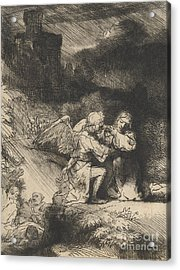 The Agony In The Garden Acrylic Print by Rembrandt