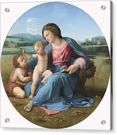 The Alba Madonna Acrylic Print by Raffaello Sanzio of Urbino