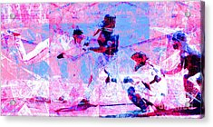 The All American Pastime 20140501 Long V2 Acrylic Print by Wingsdomain Art and Photography