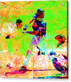 The All American Pastime 20140501 Square Acrylic Print by Wingsdomain Art and Photography