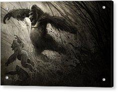 The Ambush Acrylic Print by Aaron Blaise