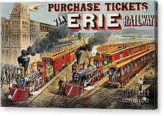The American Railway Scene  Acrylic Print by Currier and Ives