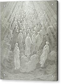 The Angels In The Planet Mercury Acrylic Print by Gustave Dore