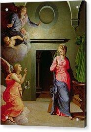 The Annunciation Acrylic Print by Agnolo Bronzino