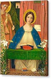 The Annunciation Acrylic Print by Arthur Joseph Gaskin