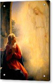 The Annunciation Acrylic Print by Carl Bloch