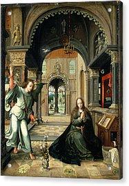 The Annunciation, Early 16th Century Acrylic Print by Bernart van Orley