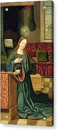 The Annunciation Acrylic Print by German School