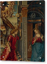 The Annunciation Acrylic Print by Luca Signorelli