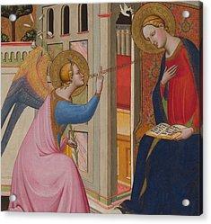 The Annunciation Acrylic Print by Master of Saint Verdiana
