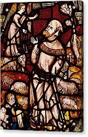 The Annunciation To Joachim Acrylic Print by English School