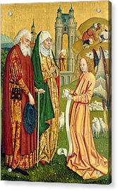The Annunciation To Joachim And Anne, From The Dome Altar, 1499 Acrylic Print by Absolon Stumme