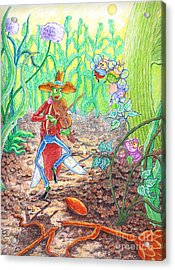 The Ant And The Grasshopper Acrylic Print by Teodora Reytor