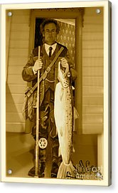 The Aristocratic Art Of Fly Fishing By Lord Adalbert Brown Sugar. Acrylic Print by  Andrzej Goszcz
