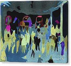 The Art Gallery Acrylic Print by Pedro L Gili