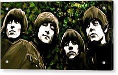 The Art Of Sound  The Beatles Acrylic Print by Iconic Images Art Gallery David Pucciarelli