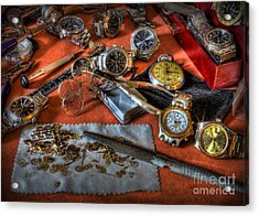 The Art Of The Timepiece - Watchmaker  Acrylic Print by Lee Dos Santos