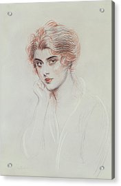The Artists Daughter Acrylic Print by Paul Cesar Helleu