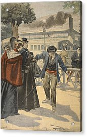 The Assassination Of The Empress Acrylic Print by French School