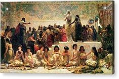 The Babylonian Marriage Market, 1875 Acrylic Print by Edwin Longsden Long