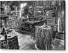 The Back Room Black And White Acrylic Print by Ken Smith