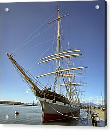 The Balclutha Historic 3 Masted Schooner - San Francisco Acrylic Print by Daniel Hagerman