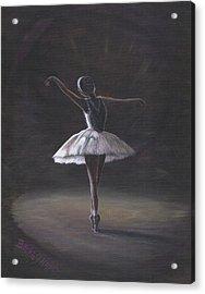 The Ballerina Acrylic Print by Beckie J Neff