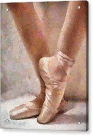 The Ballerina's Shoes Acrylic Print by Georgiana Romanovna