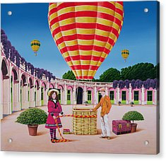 The Balloonist Acrylic Print by Anthony Southcombe