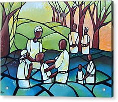 The Baptism Acrylic Print by AC Williams